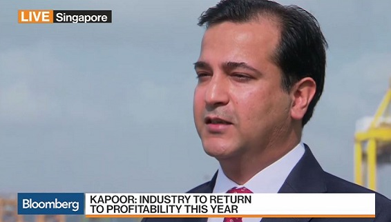 Bloomberg TV interview with Rahul Kapoor, Drewry Maritime Financial Research Services