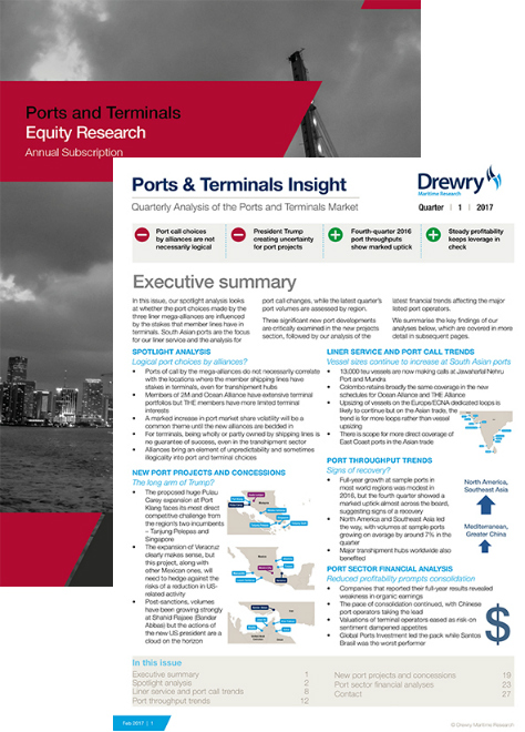 Ports and Terminal Market and Equity Research Package (Annual Subscription)