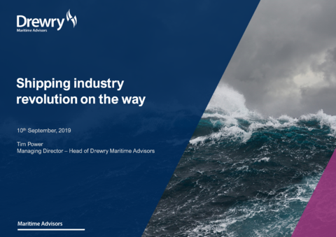 Drewry presentation to ACPA; Shipping industry revolution on the way