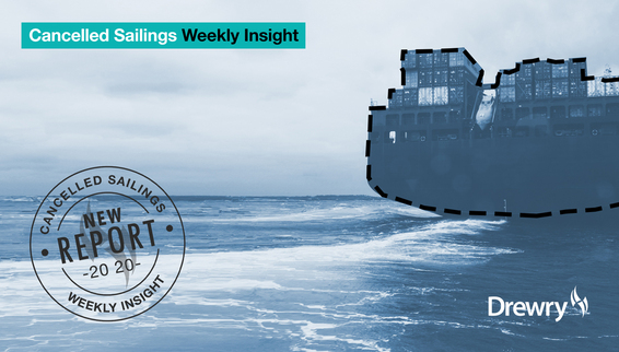 Drewry launches new weekly report assessing cancelled sailings on the main trade routes